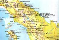 North Sumatra map
