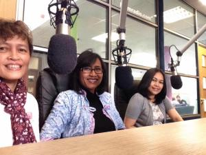 The girls of BIS in BCfm studio before we went on air
