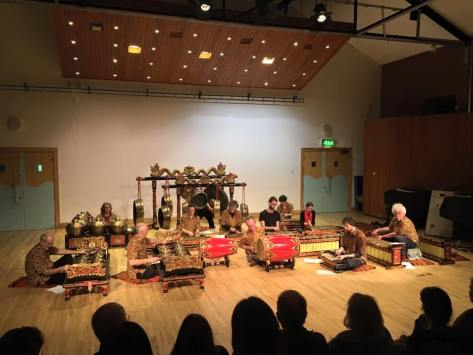 Bristol Community Gamelan performing in Bath Spa