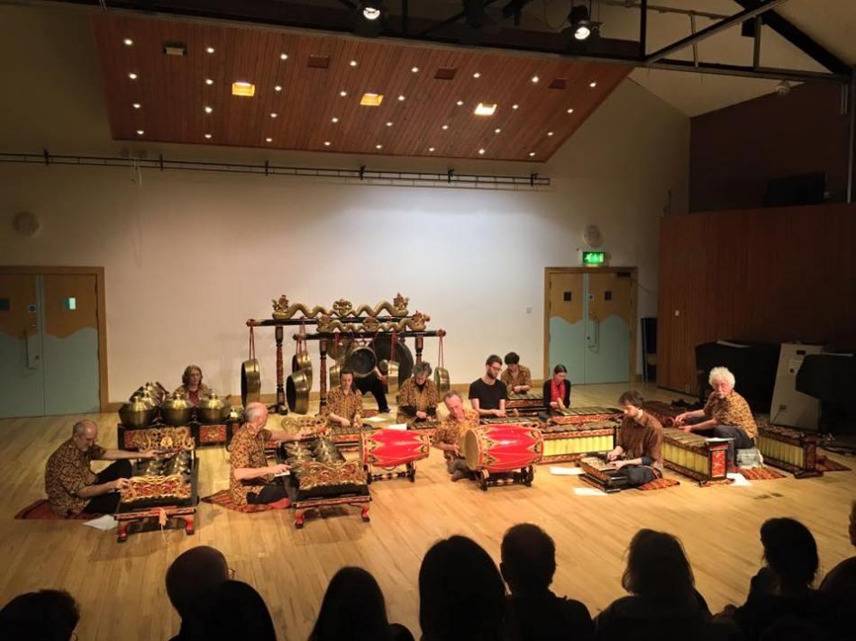Bristol Community Gamelan performing in Bath Spa